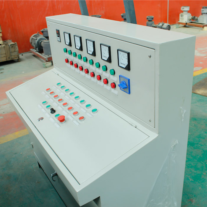 PLC control of briquette maker