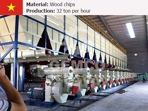 32 t/h Wood Pellet Production Line In Vietnam