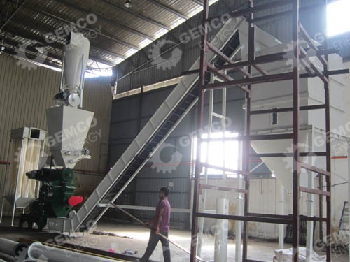 pellet mill and belt-conveyor