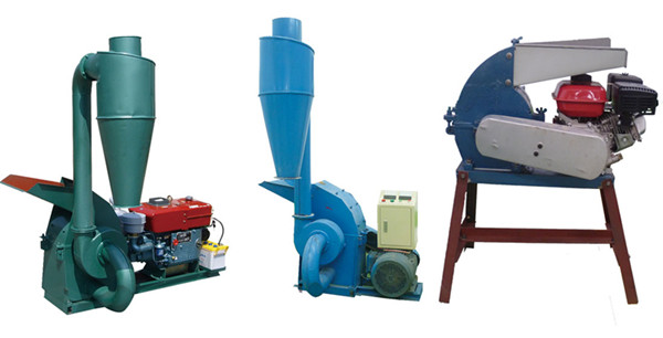 Gemco hammer mill with diesel engine, electric engine and gasoline engine