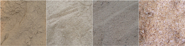Hammer mill processed powders