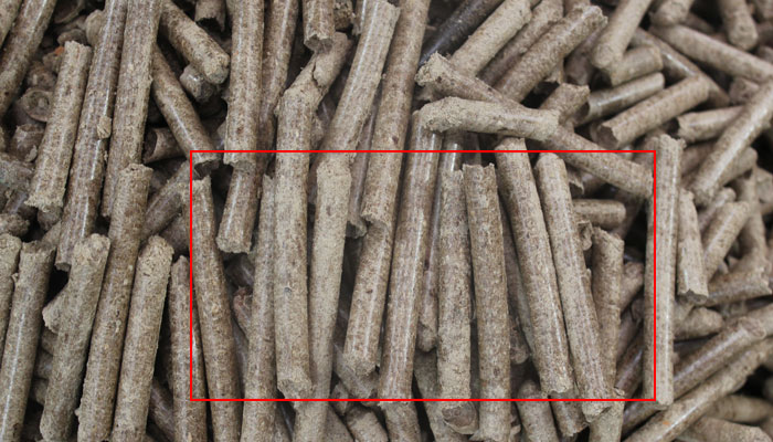 wood pellets in uniform length