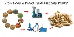 How does a wood pellet machine work?