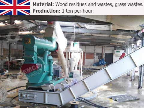 1 t/h Wood Pellet Plant In UK