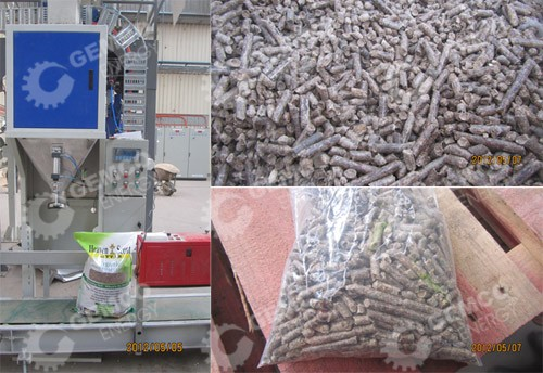 wood pellets and packing