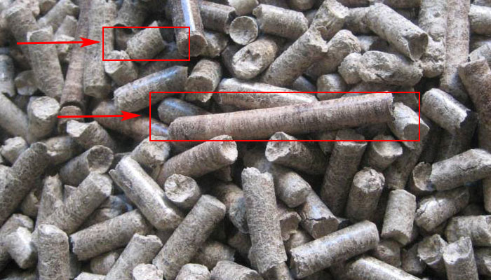 wood pellets in poor length