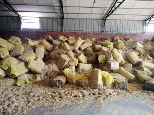 sawdust of feed pellet production line