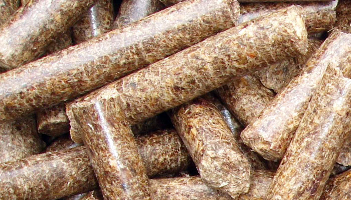 very smooth surface wood pellets