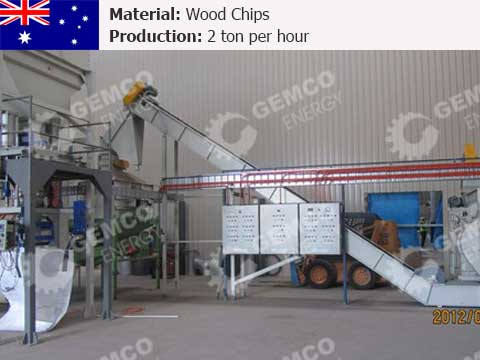 2 t/h Wood Pellet Mill Plant In Australia
