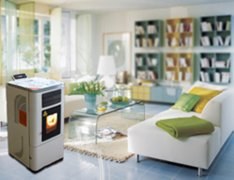 Pellet stove heating your home