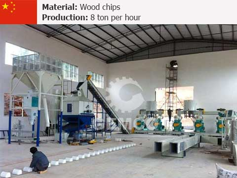 8 t/h Wood Pellet Mill Plant In China
